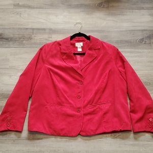 STUDIO WORKS Red Jacket. Size 18W